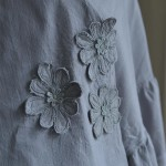 Shawl, Pretty Flowers, Light Grey 25 2