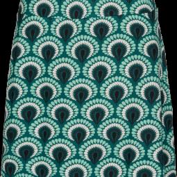 Border Skirt Peacock