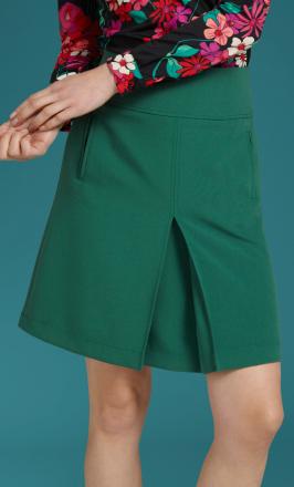 Border Pleat Skirt Tribeca4