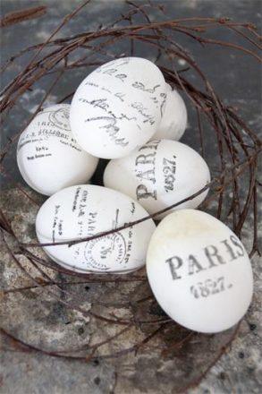 bedrukte eieren